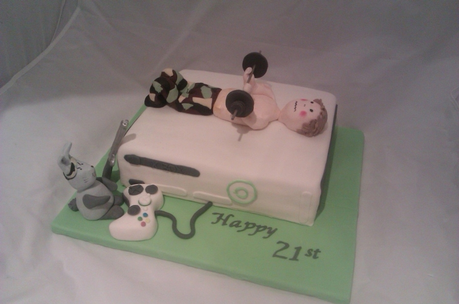 Xbox With A Rabbit In Charge! on Cake Central