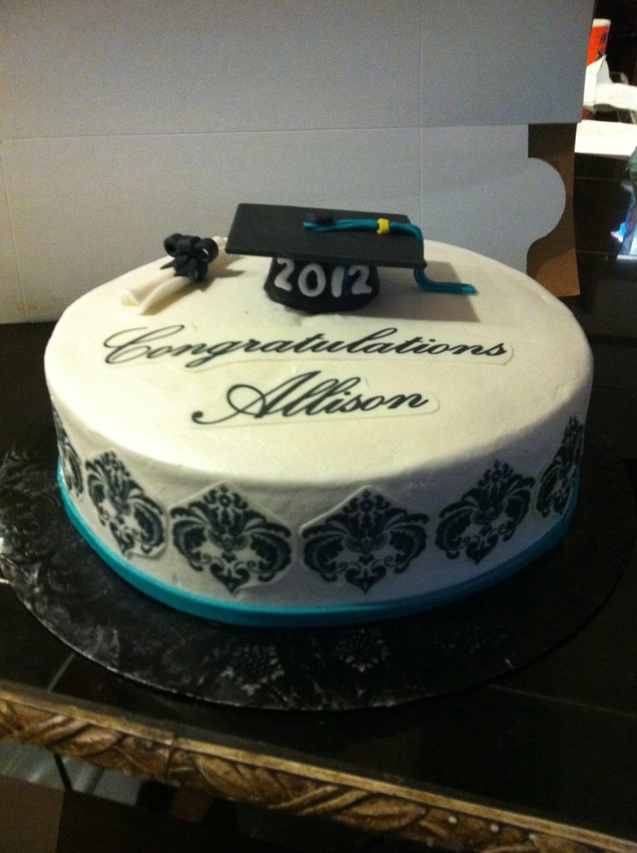 Graduation Cake With Cap on Cake Central