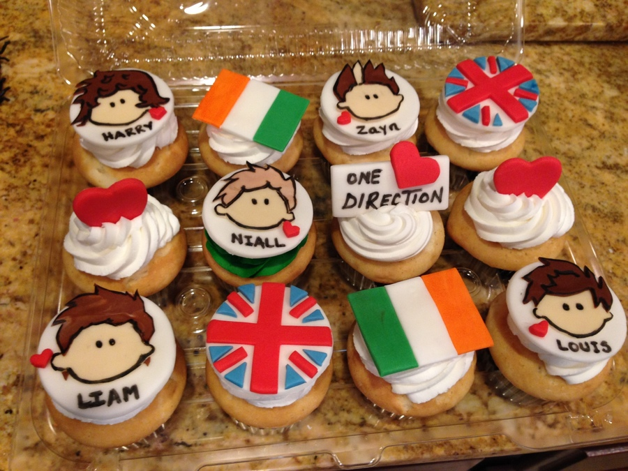 One Direction Cupcakesjpg on Cake Central