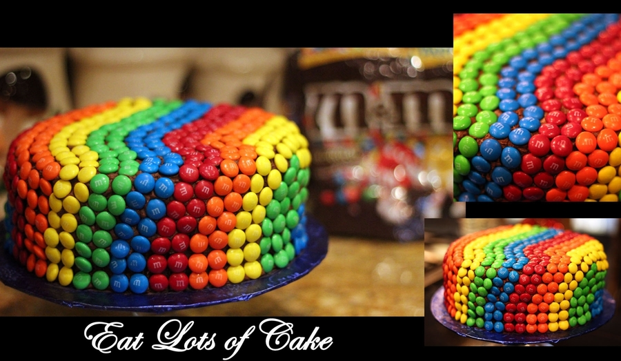 M&m Rainbow Cake  on Cake Central