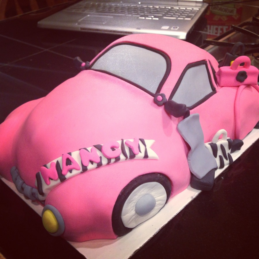Hot Pink Slug Bug Cake on Cake Central