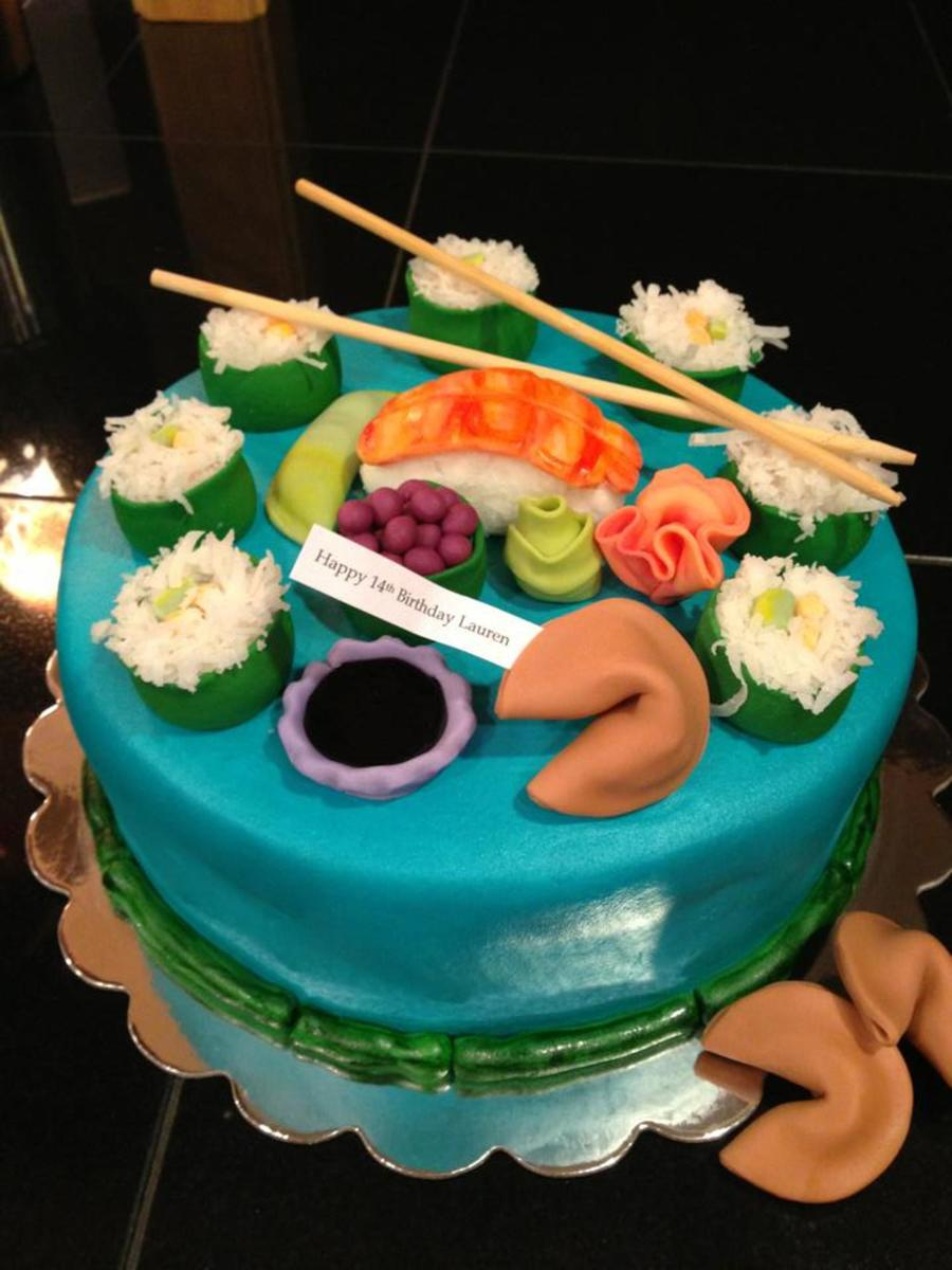 Magnificent Sushi Cake Cakecentral Com Funny Birthday Cards Online Barepcheapnameinfo