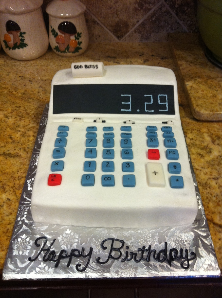Calculator Cake Cakecentral Com