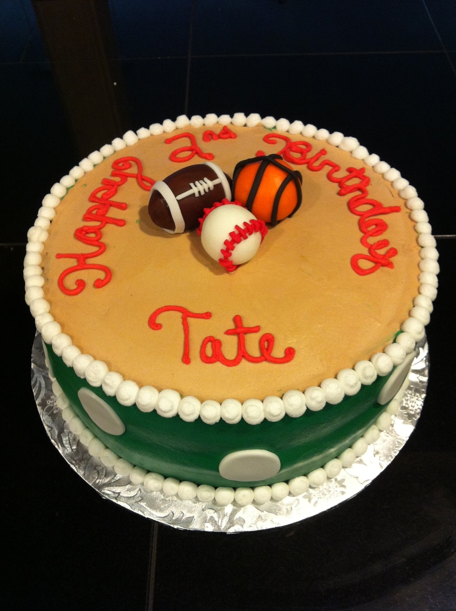 All Sports Birthday Cake on Cake Central