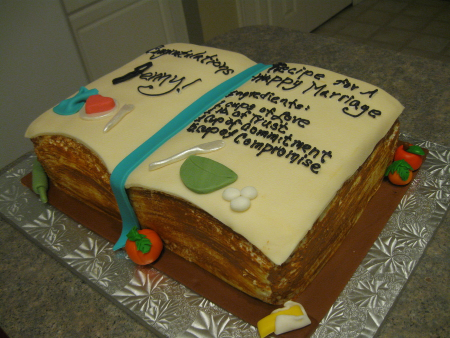 Recipe For A Marriage Book Cake on Cake Central