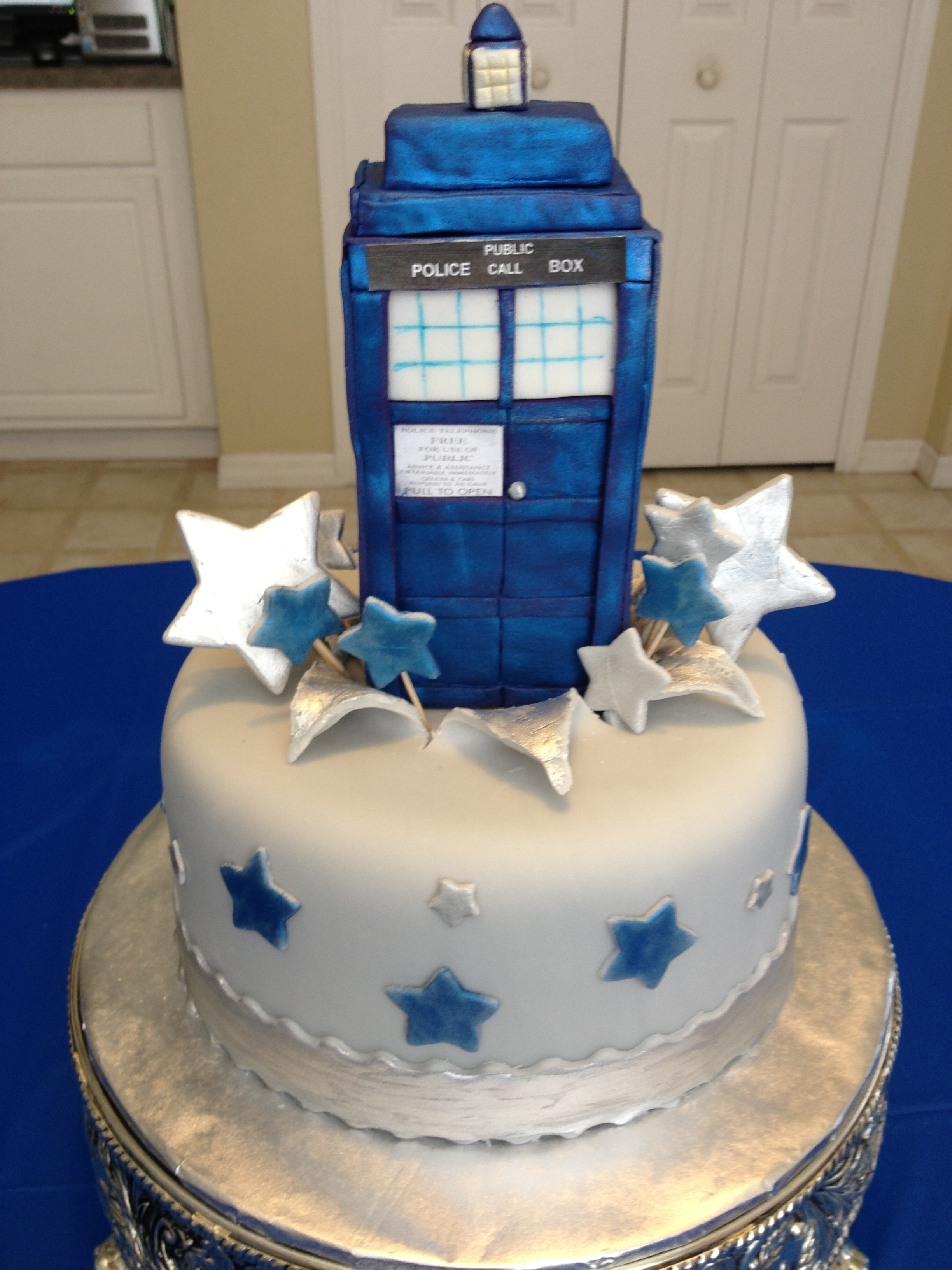 Dr Who Tardis Cake The Tardis Is Where The Dr Travels Through Time