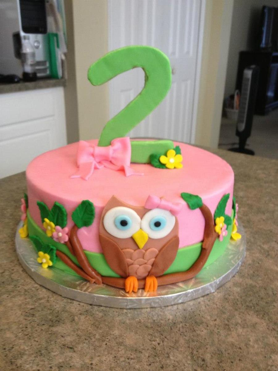 Owl Cake In Buttercream With Fondant Decorations on Cake Central