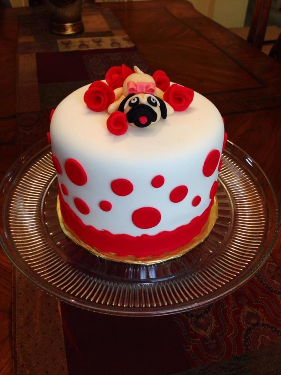 Pug Birthday Cake