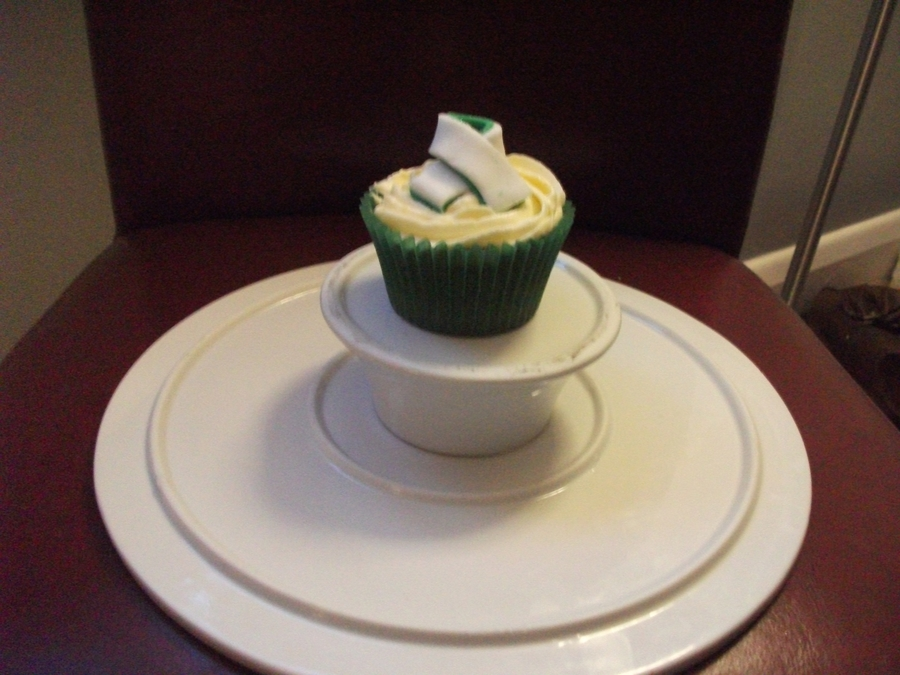 Macmillan Cancer Ribbon on Cake Central