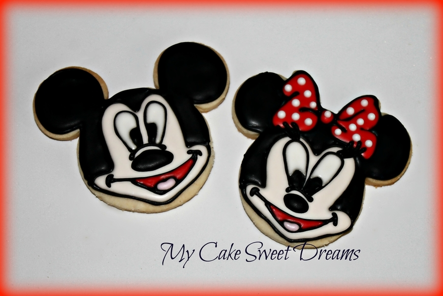 Mickey & Minnie Mouse Cookies on Cake Central