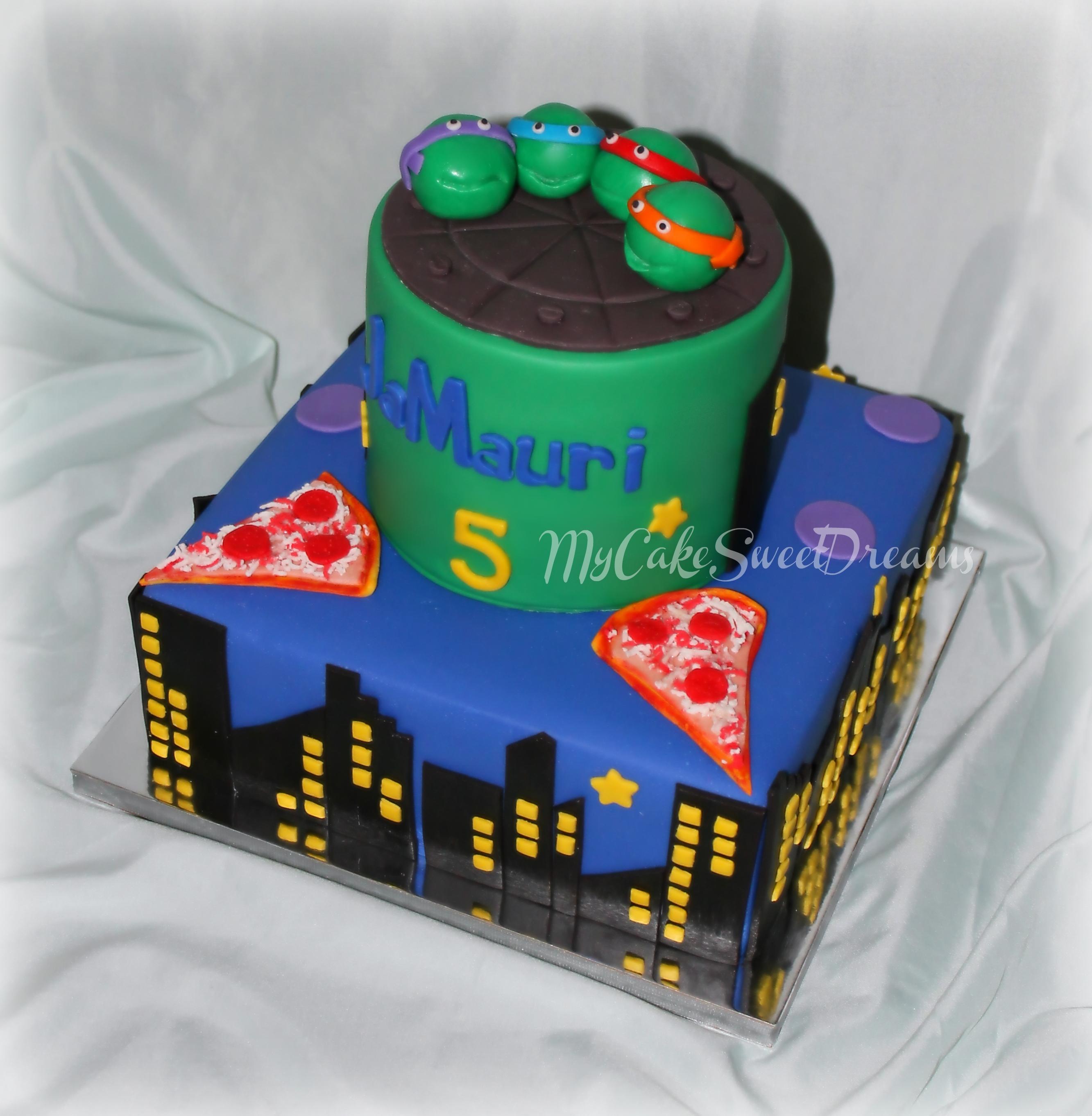 Ninja Turtles Birthday Cake CakeCentralcom