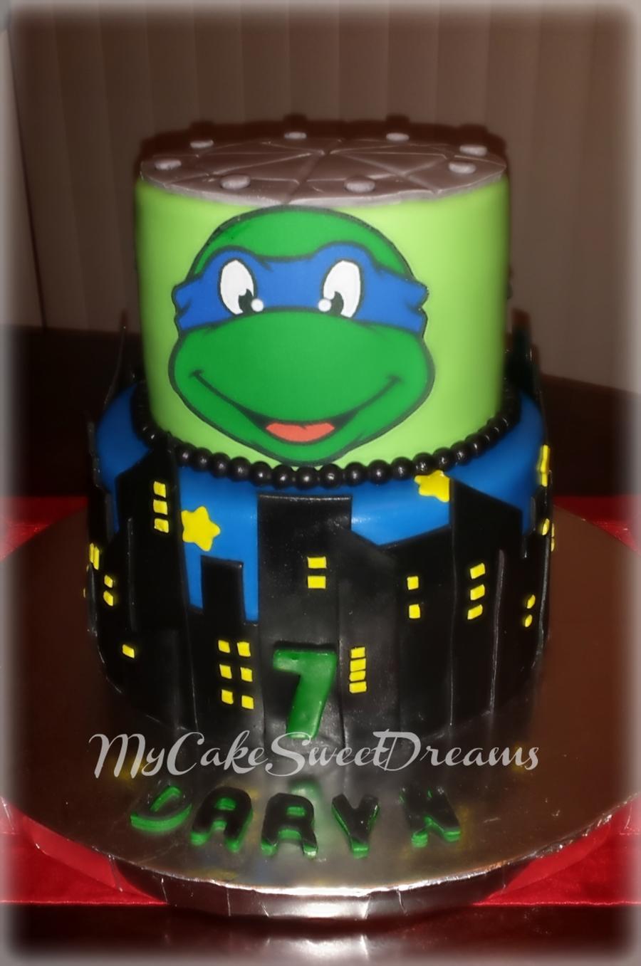 Teenage Mutant Ninja Turtles Leonardo Cake Cakecentral
