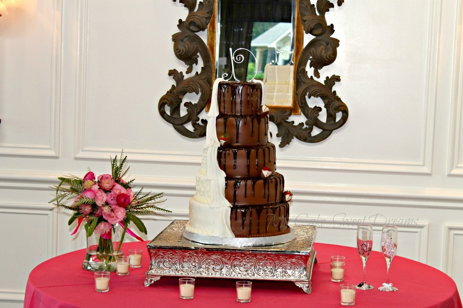 Half And Half Wedding Cake  on Cake Central
