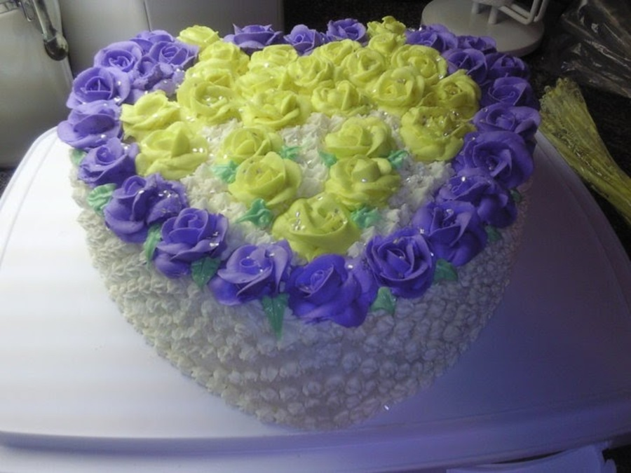 Heart Birthday Cake With 49 Roses on Cake Central