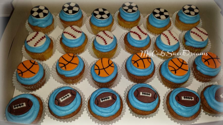 Terrific All Sports Birthday Cupcakes Cakecentral Com Birthday Cards Printable Benkemecafe Filternl