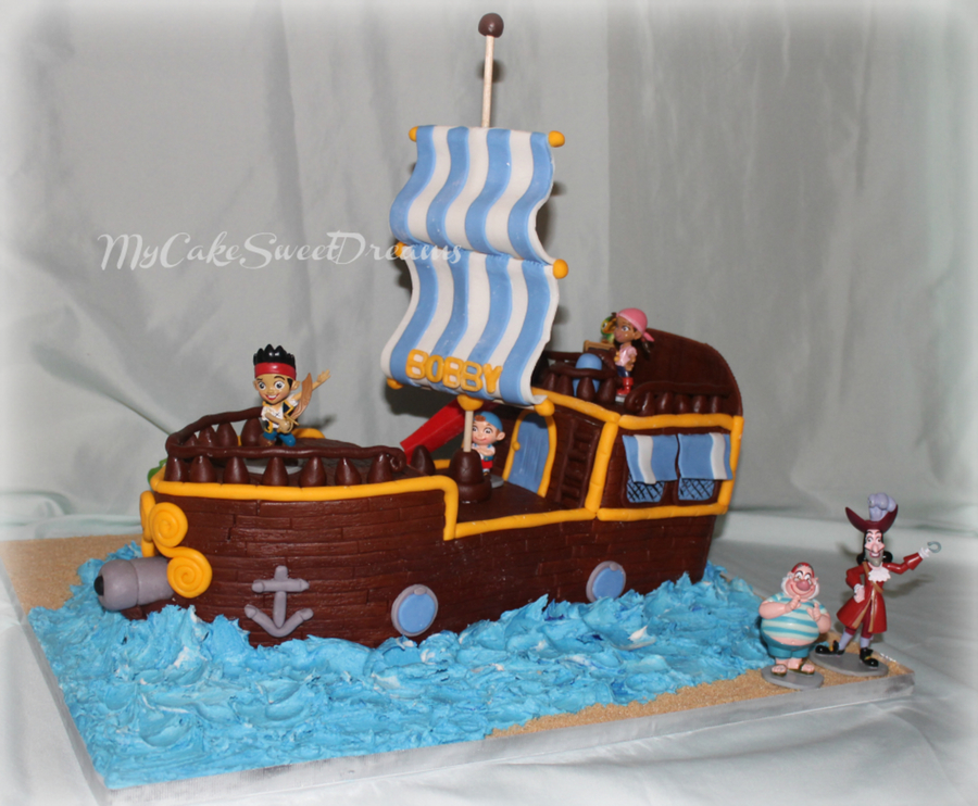 Jake And The Neverland Pirate Ship Cake Cakecentral Com