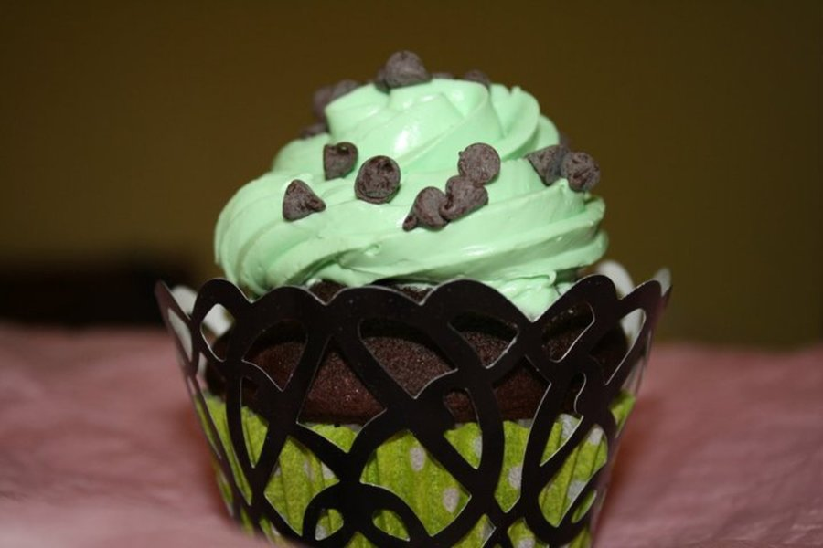Mint Chocolate Chip on Cake Central