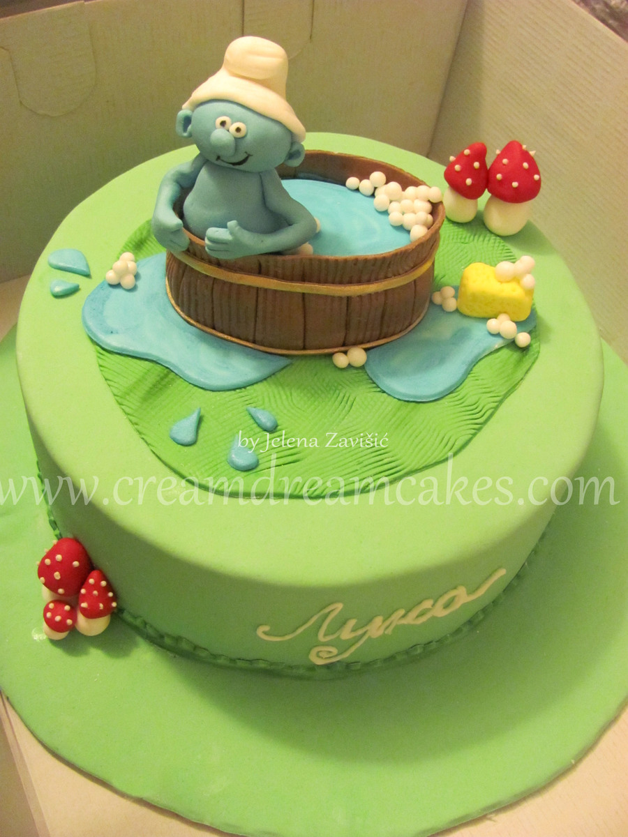 Baby Smurf Cake on Cake Central