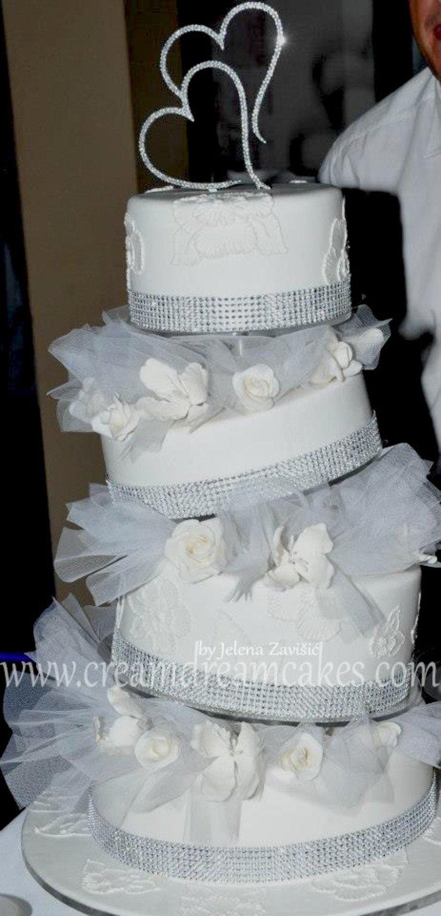 White Wedding Cake on Cake Central
