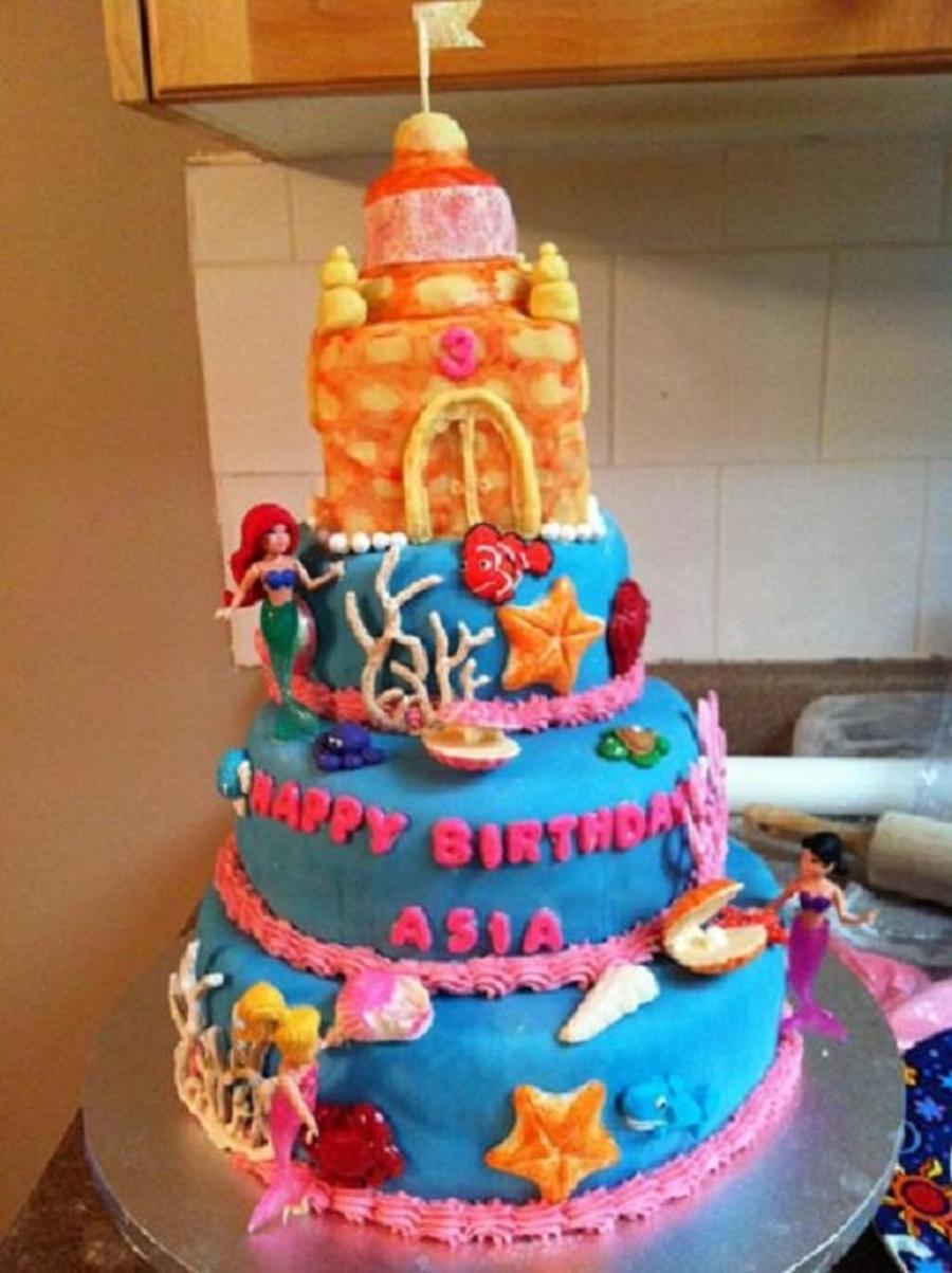 Ariel Cake Cakecentral Com