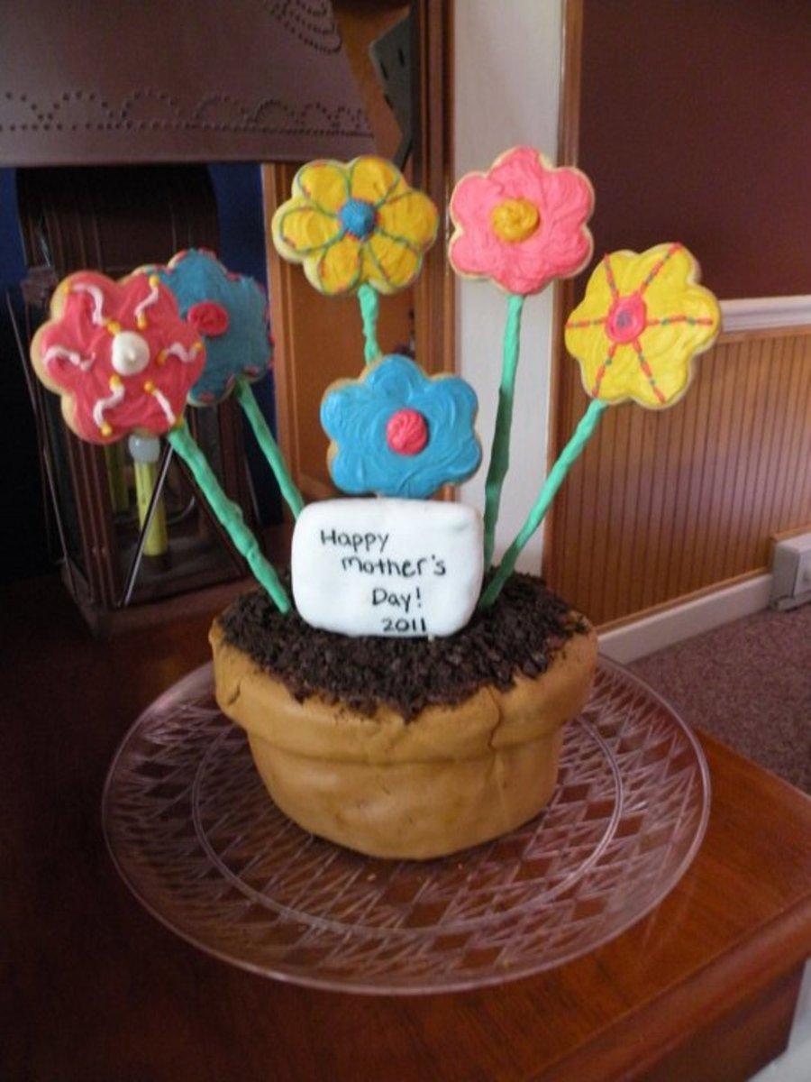 Flower Basket Mothers Day Cake : Mother s day flower basket cakecentral
