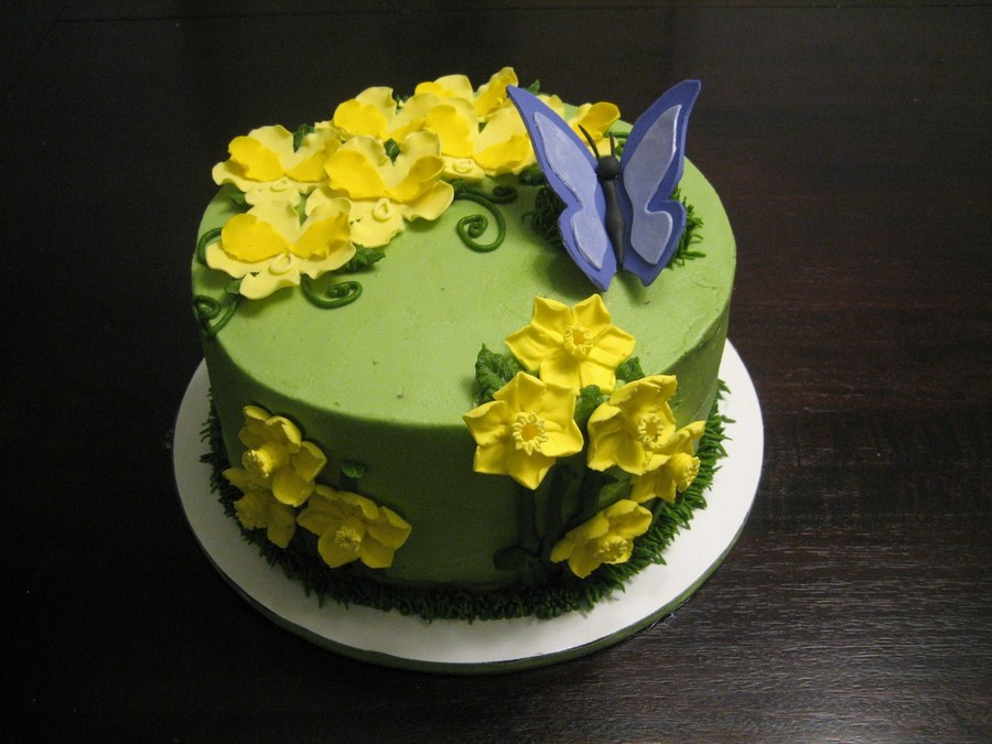 Butterfly Flower Cake on Cake Central