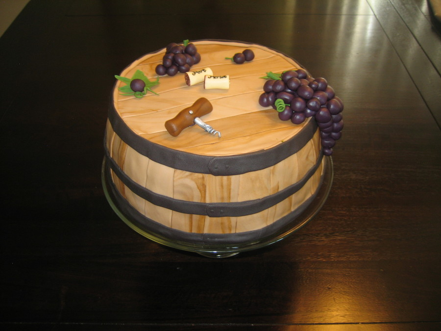 How To Make Wine Barrel Cake