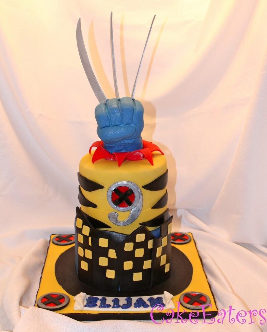 Elijah's Wolverine X Men Cake - CakeCentral.com