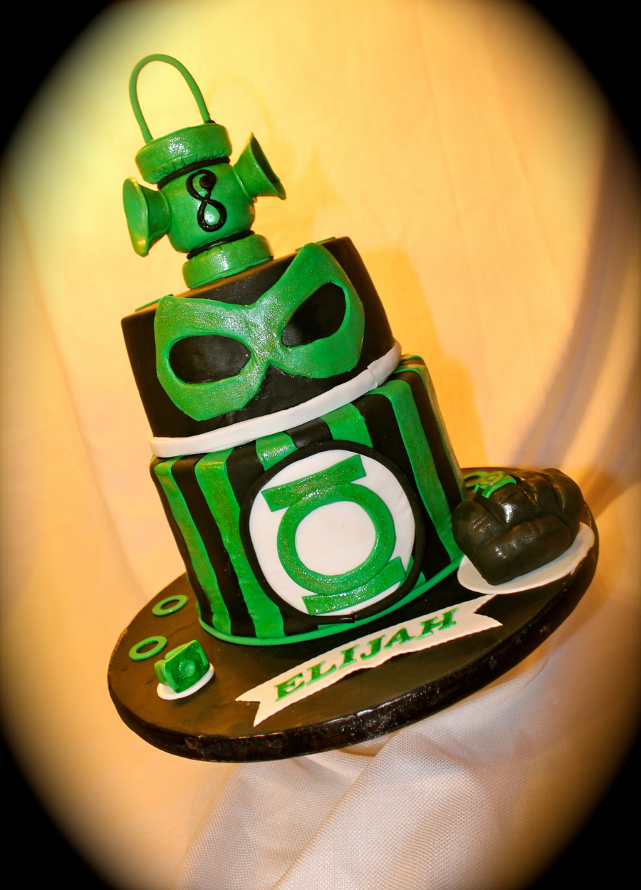 Made This Green Lantern Cake For My Sons Birthday Lantern