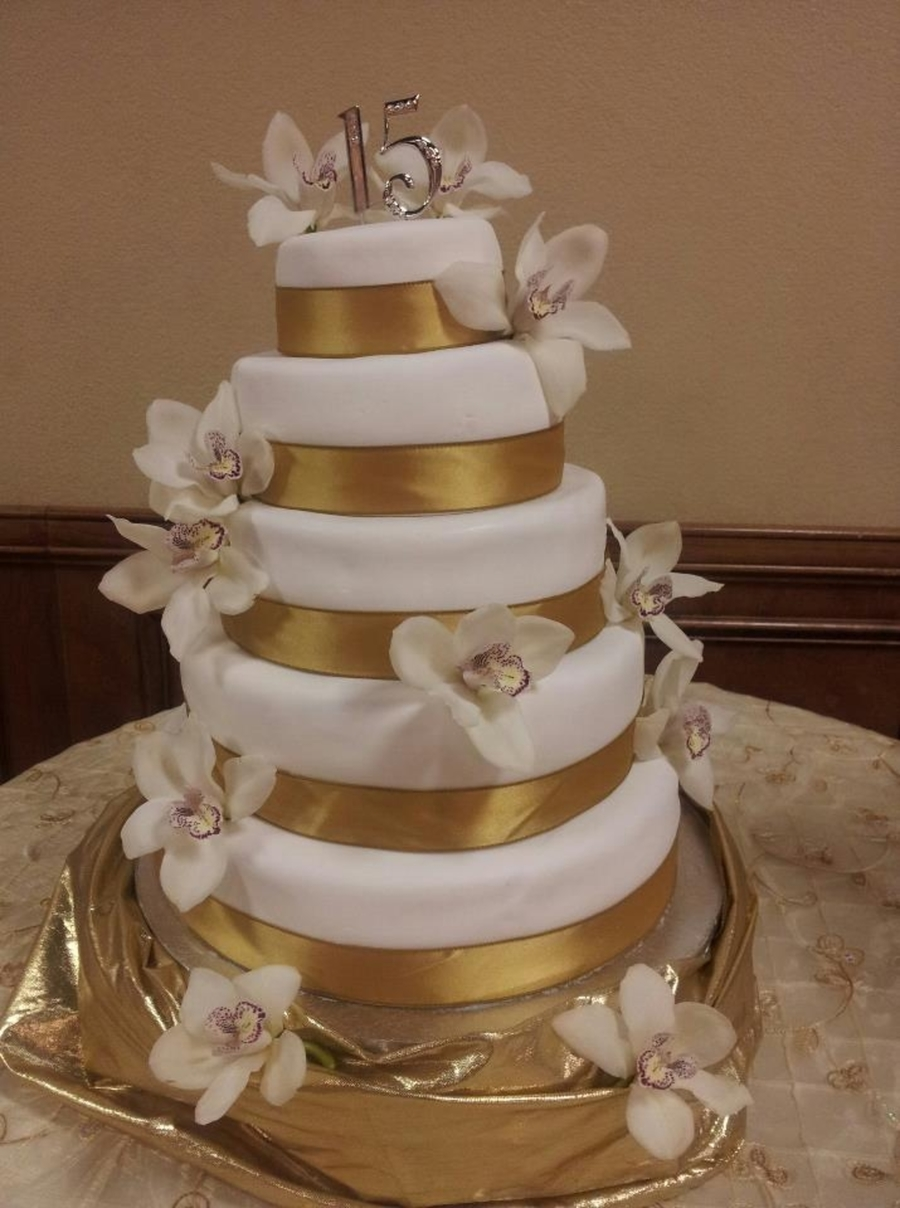 Gold Orchid First Quince Cake on Cake Central
