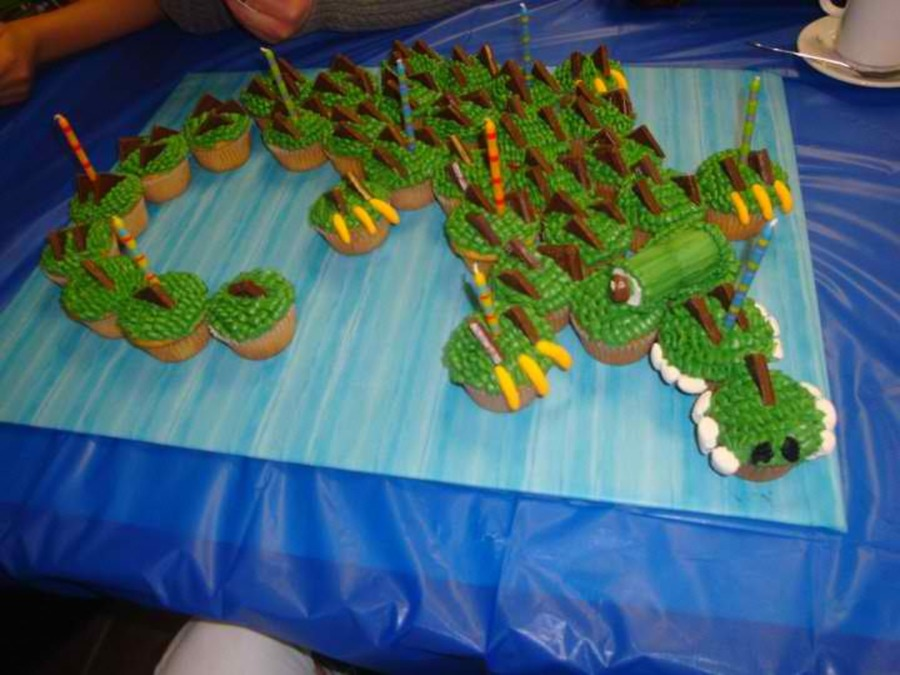 Crocodile Cupcakes on Cake Central