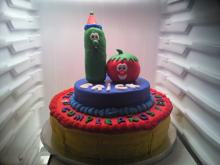 First Cake Ive Ever Made Veggietales on Cake Central