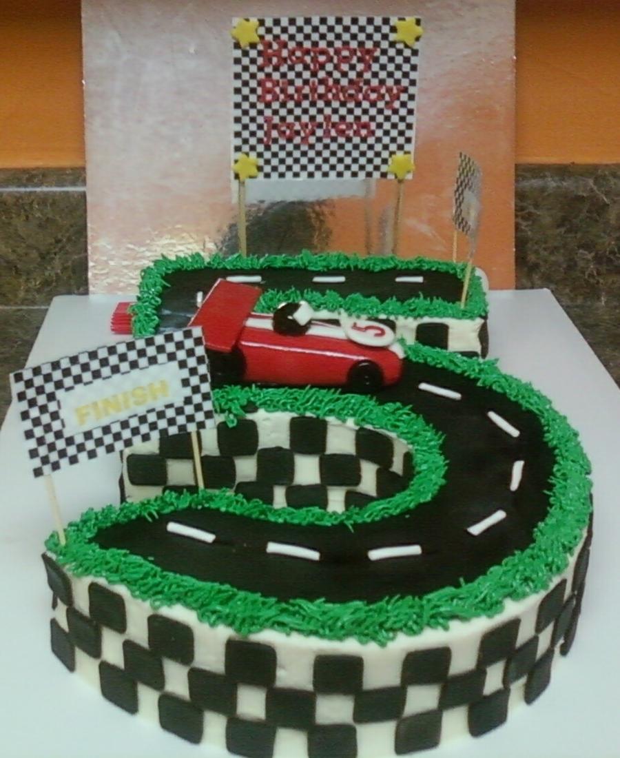 Birthday Cake Photos Racing Car : Race Track Cake - CakeCentral.com