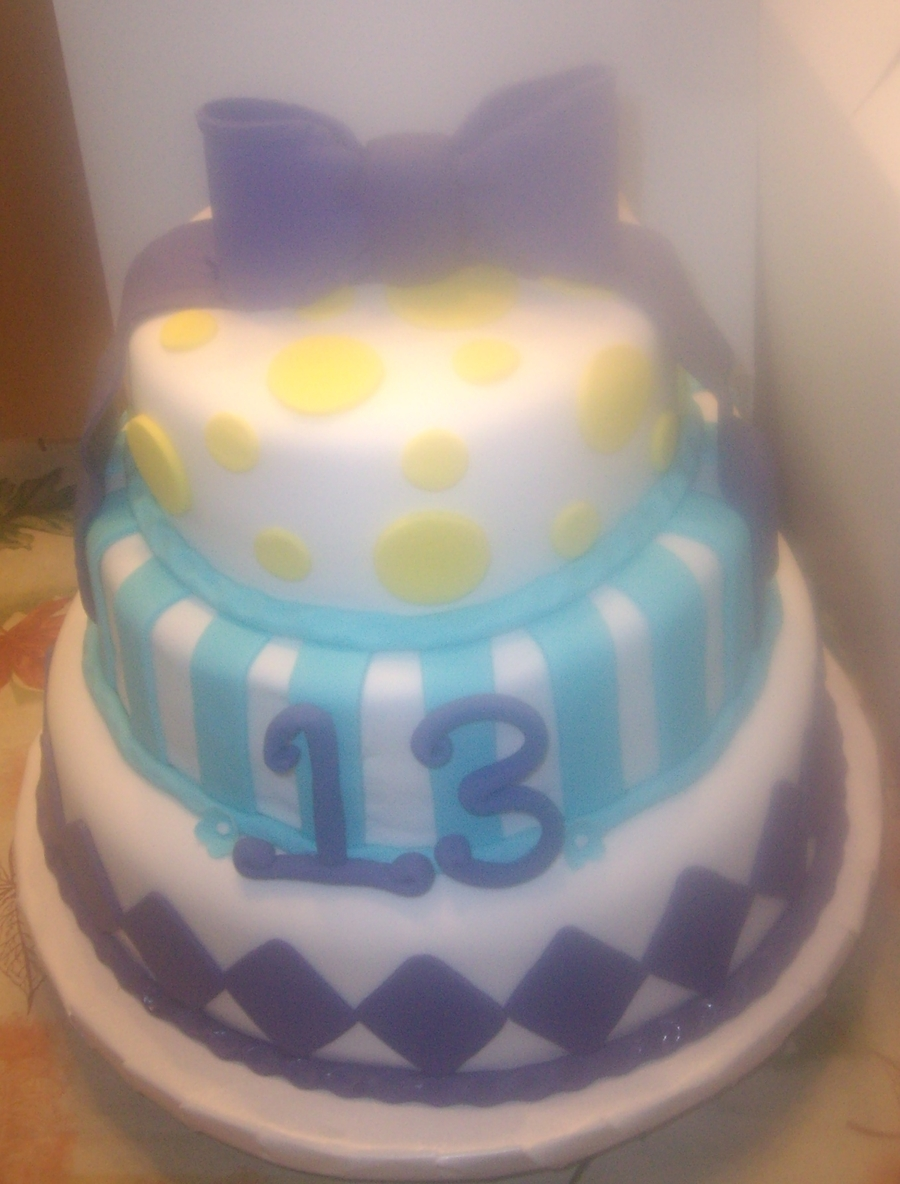 Marvelous Birthday Cake For 13 Year Old Girl Cakecentral Com Funny Birthday Cards Online Alyptdamsfinfo