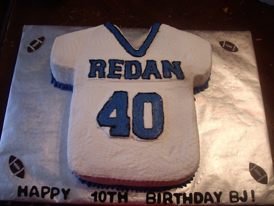 Football Jersey Cake on Cake Central