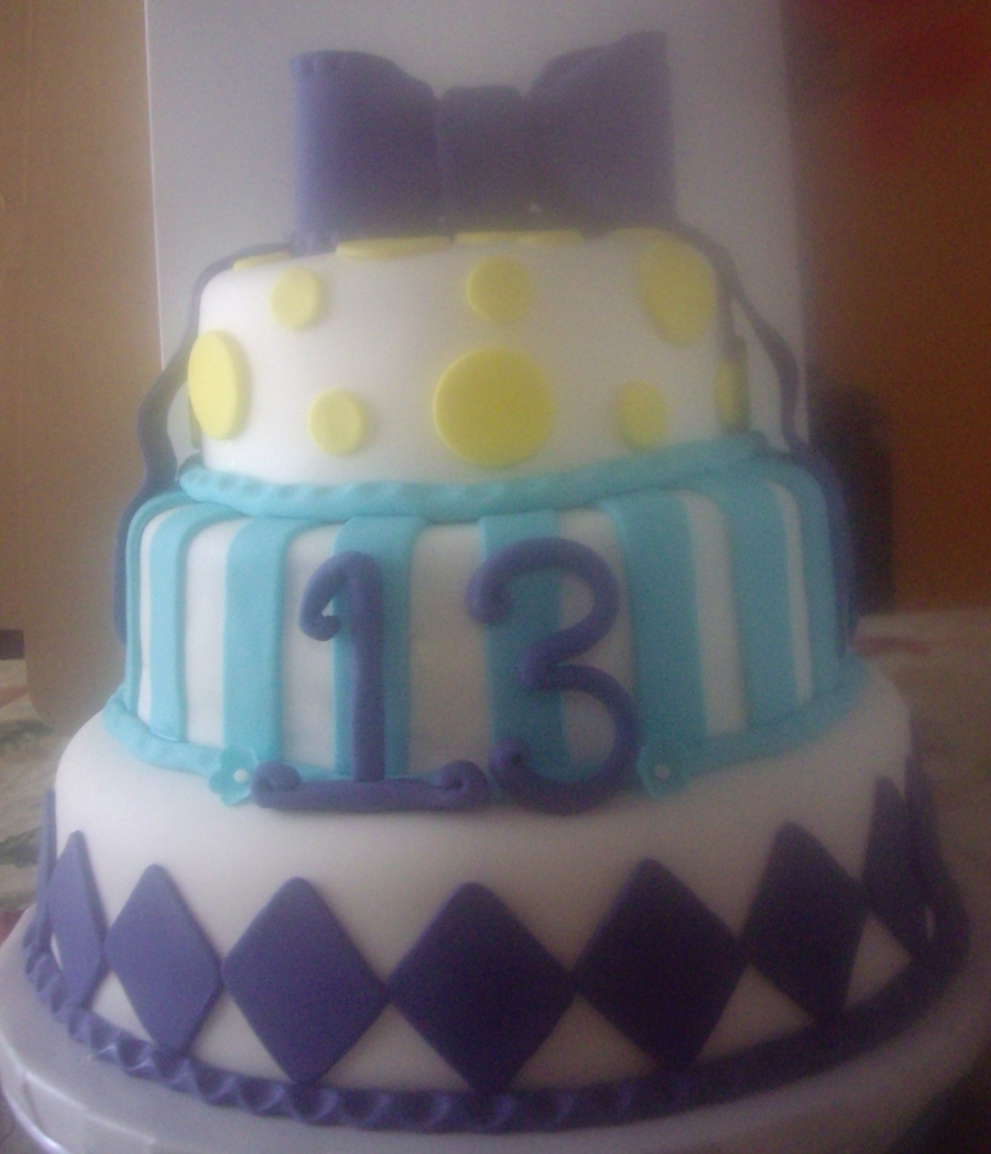 Cake Designs For 13 Year Old Birthday : Birthday Cake For 13 Year Old Girl - CakeCentral.com