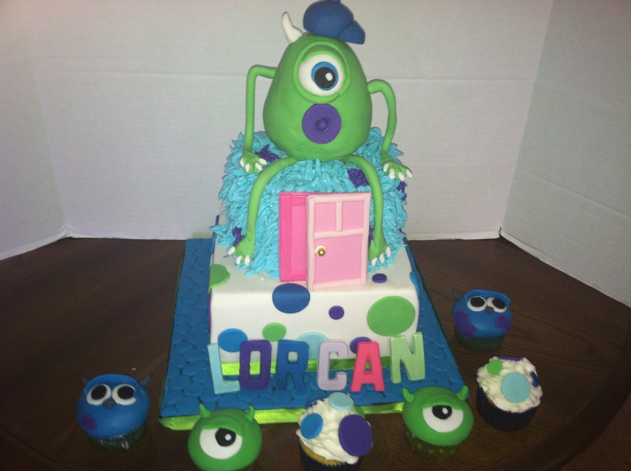 Monsters Inc Baby Shower Cake CakeCentral
