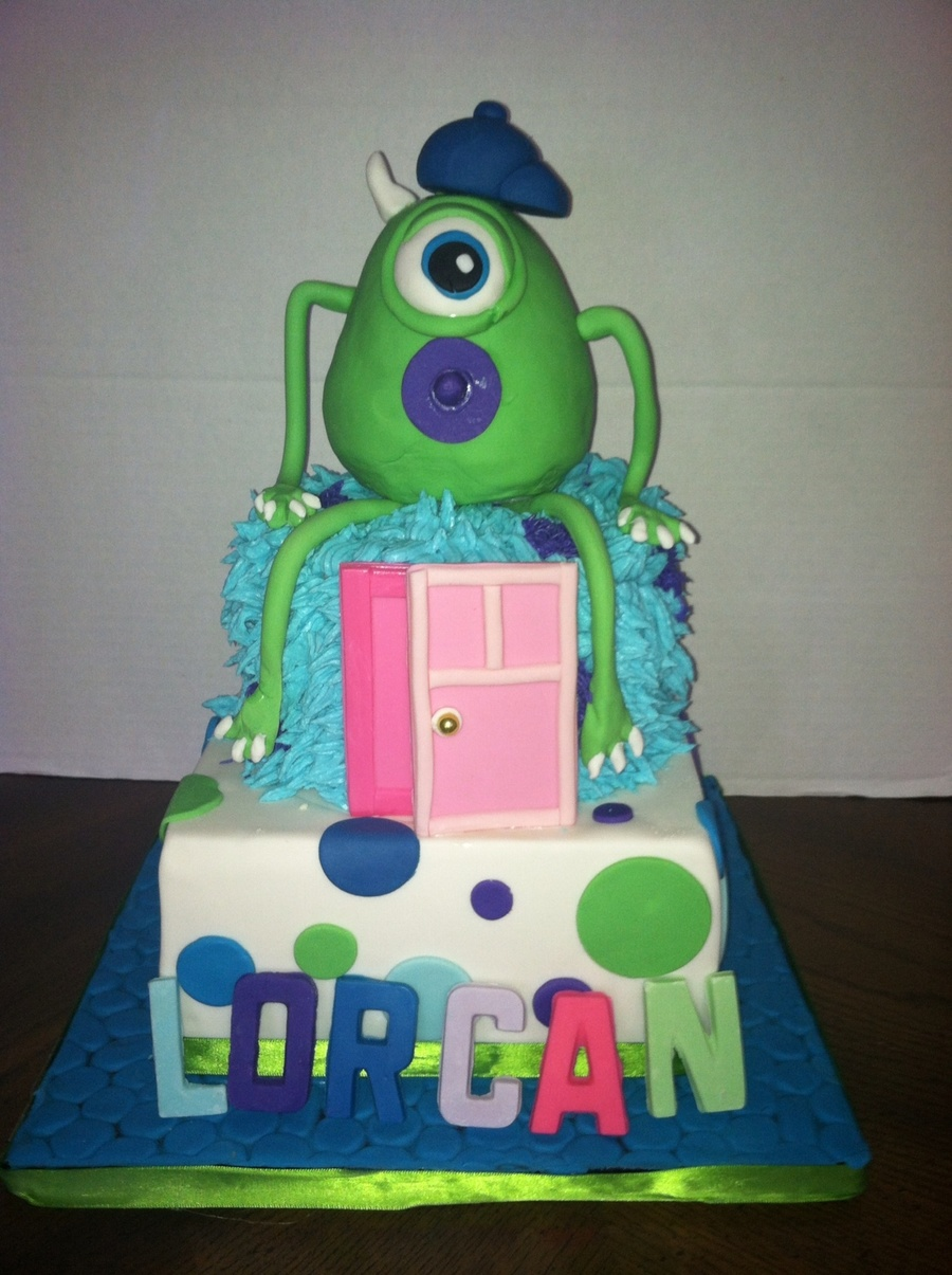 Monsters Inc Baby Shower Cake CakeCentralcom