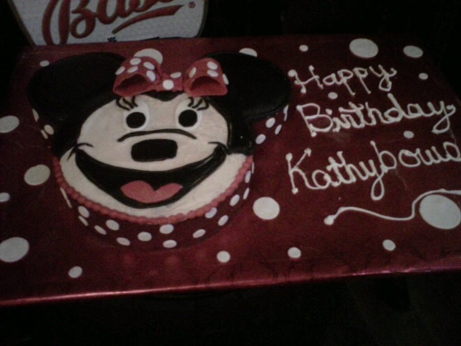 Minnie For Mom on Cake Central