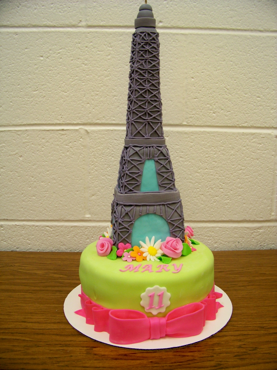 Eiffel Tower Birthday Cake Cakecentral