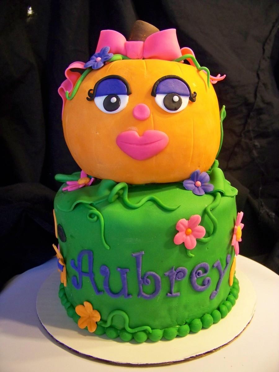 Pleasant Girly Girl Pumpkin Birthday Cake Cakecentral Com Funny Birthday Cards Online Alyptdamsfinfo