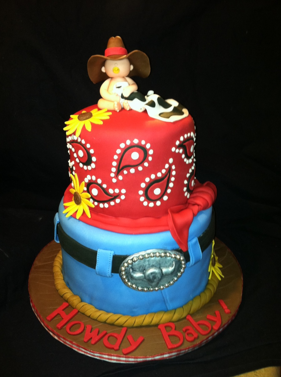 Cowboy Themed Baby Shower Cakes