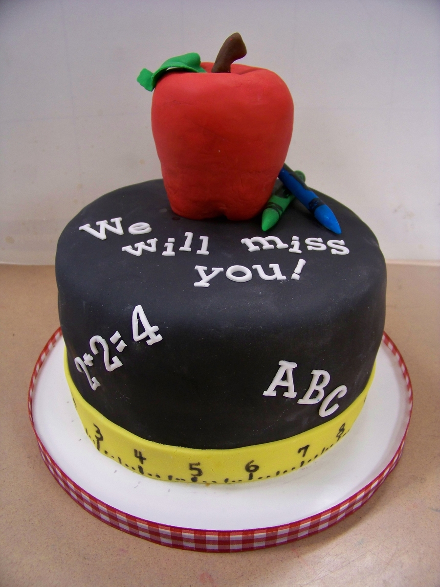 Teacher's Retirement Cake on Cake Central