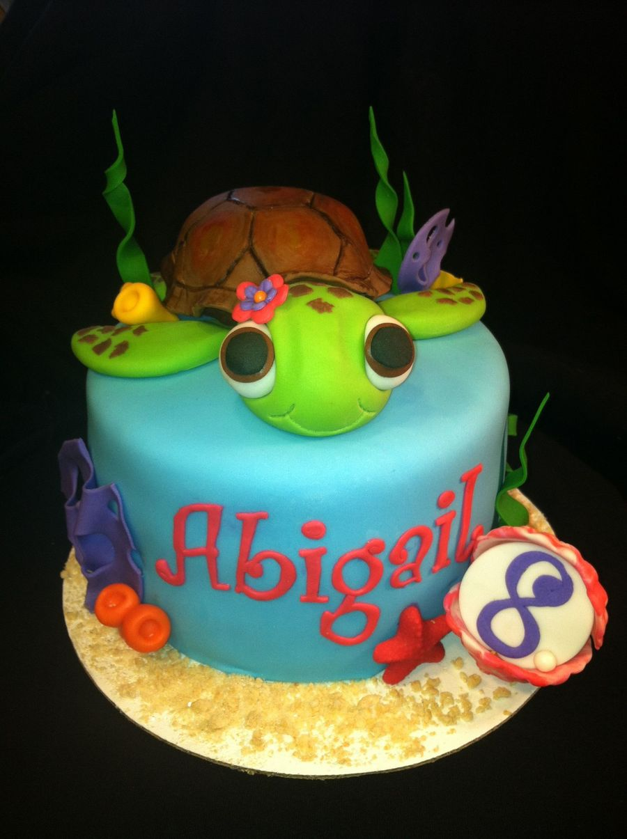 Sea Turtle Birthday Cake Photos