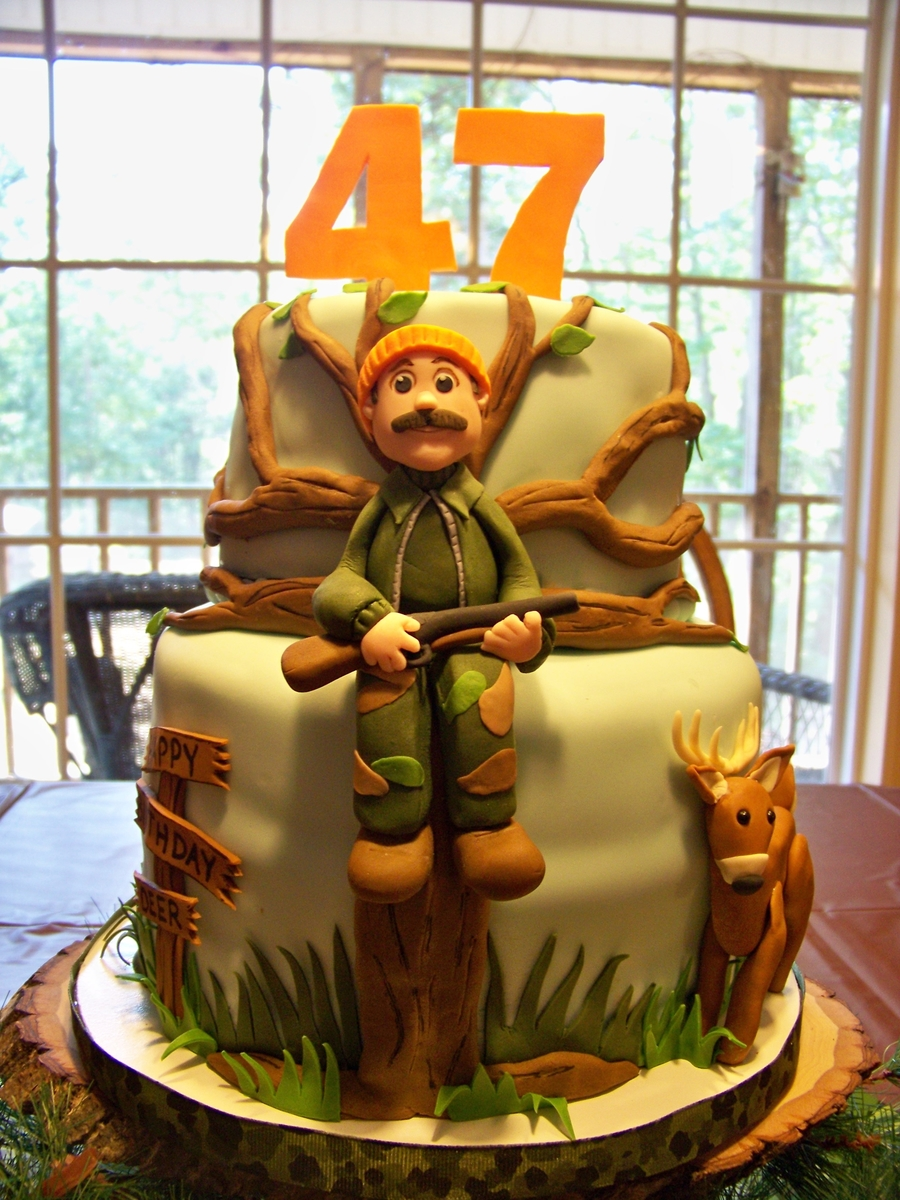 Hunting Scene Cake Decorations : A Deer Hunter s Birthday Cake - CakeCentral.com
