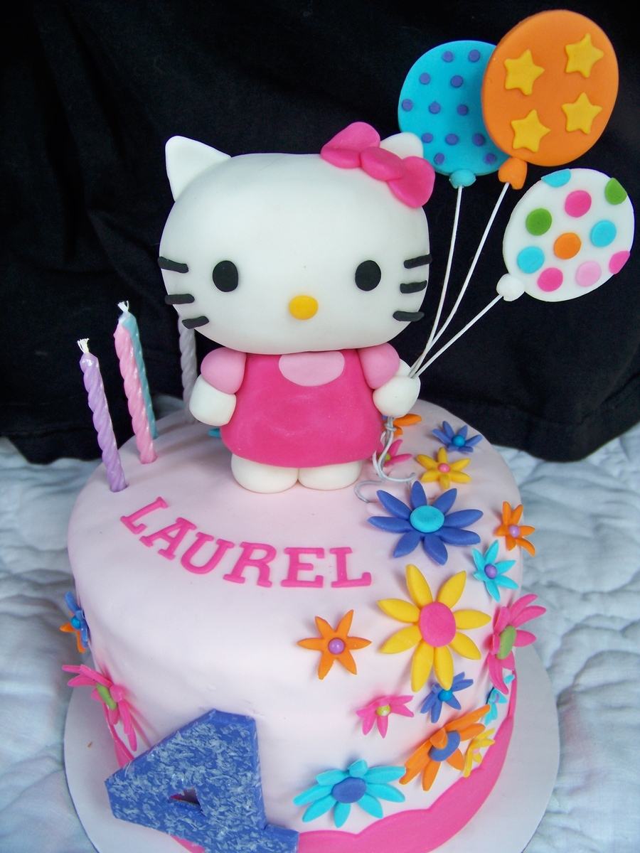 Astounding Hello Kitty Birthday Cake And Cupcakes Cakecentral Com Personalised Birthday Cards Cominlily Jamesorg