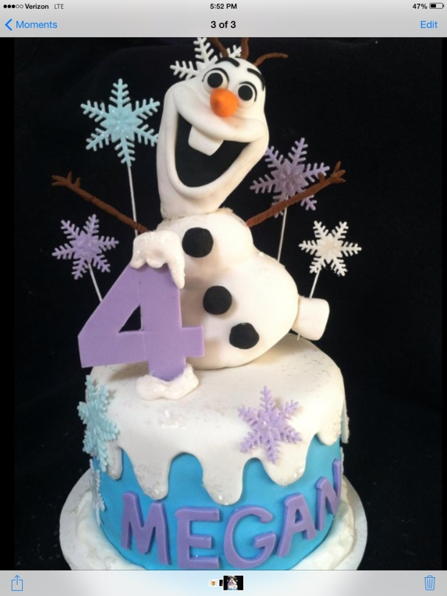 Frozen Olaf Cake On Central