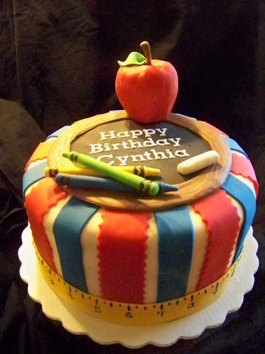 Cake Designs For Teachers : Back To School Birthday Cake - CakeCentral.com