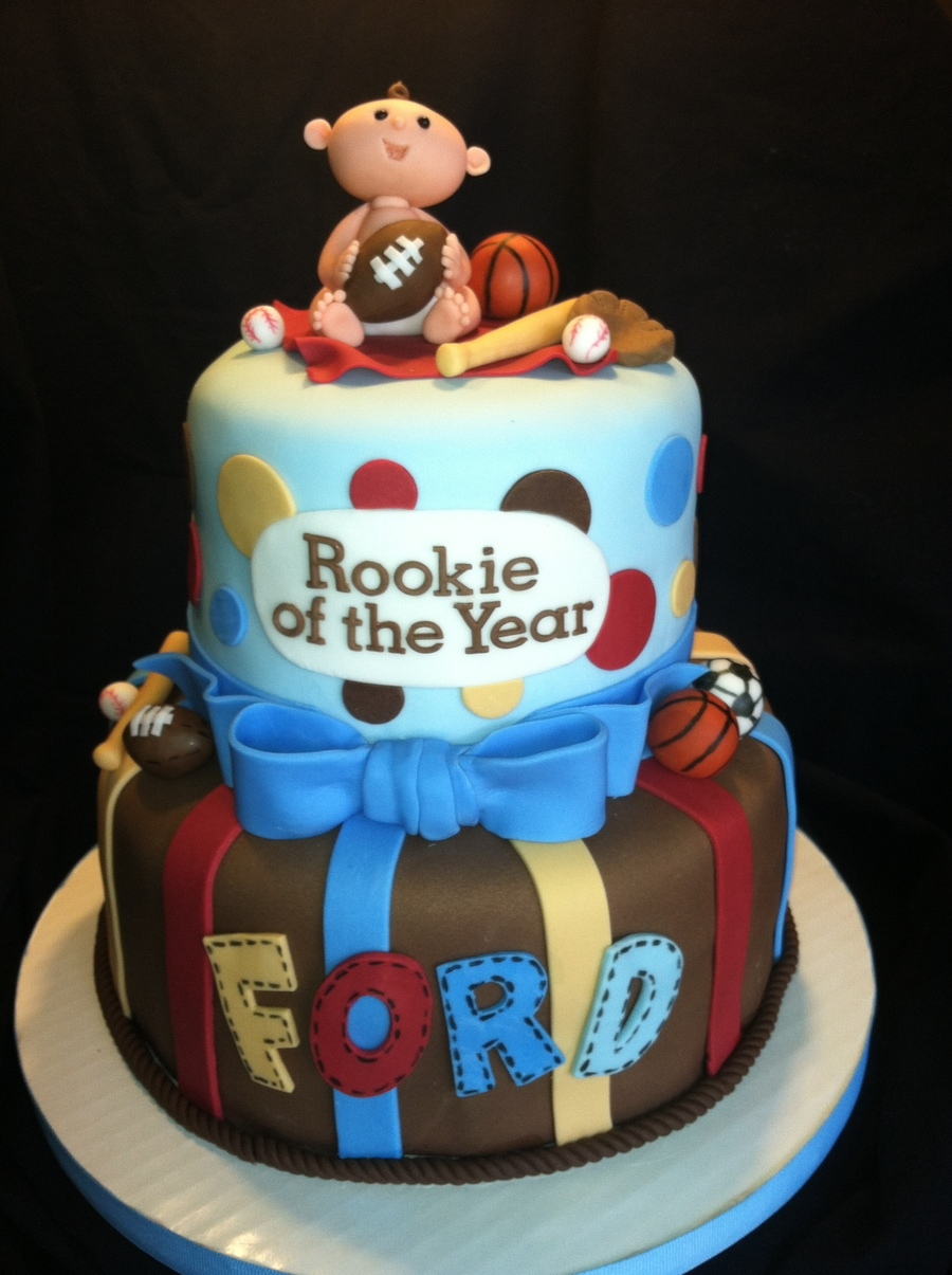 Sports Themed Baby Shower Cake Cakecentral Com