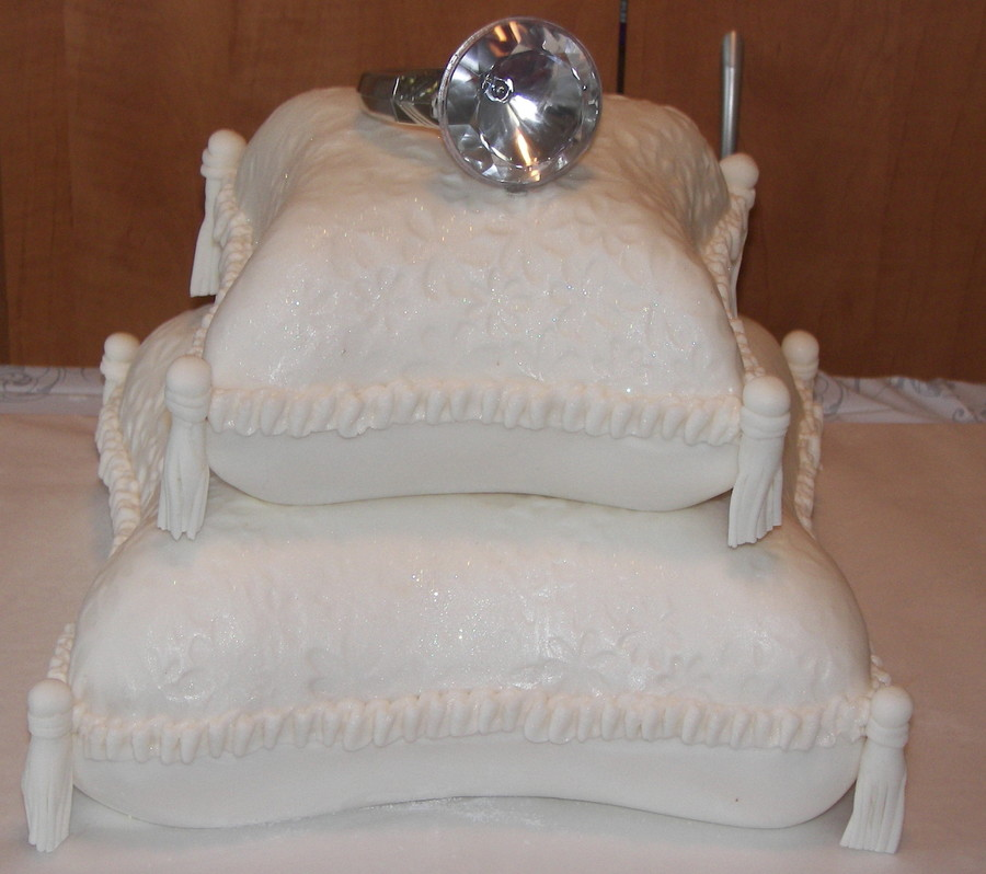 Bridal Shower Pillow Cake  on Cake Central